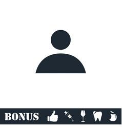 Human icon flat vector
