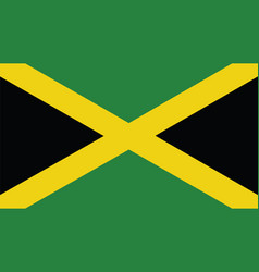 jamaica flag for independence day and infographic vector image