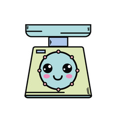 Kawaii cute happy weight machine vector