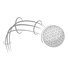 Kick of golf ball icon gray monochrome style vector image