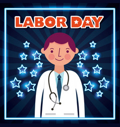 labor day card vector image