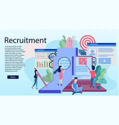landing page template of recruitment concept vector image