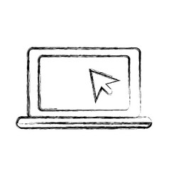 laptop pc symbol vector image