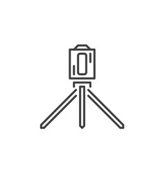 laser level tool outline icon or design vector image