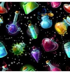 Magic Bottles Pattern vector image