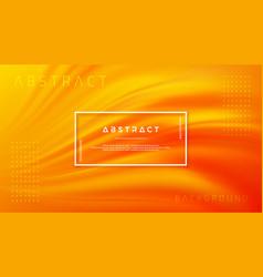 modern orange liquid wave background vector image