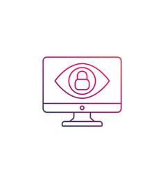 monitoring parental control icon vector image