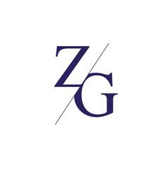 Monogram letters z g logo design template vector