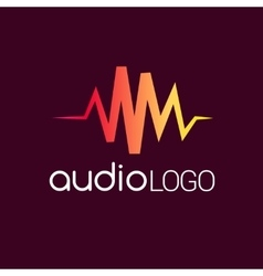 Music Logo concept sound wave studio music DJ vector