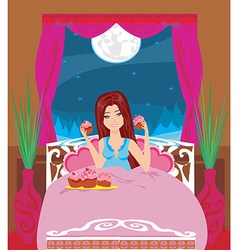 night snacking vector image