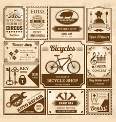 Old style press banners newspaper vintage vector