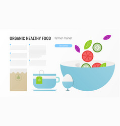 organic healthy food vector image