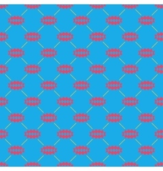 Oval of rhombuses line seamless pattern 4910 vector image vector image