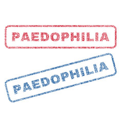 paedophilia textile stamps vector image