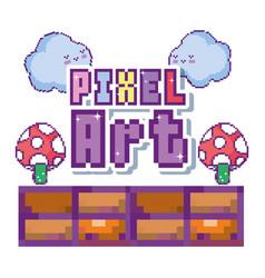 Pixel art concept vector