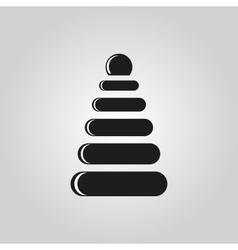 Pyramid toy icon design Childrens pyramid vector image