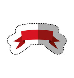 Red ribbon design icon vector