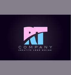 Rt alphabet letter join joined letter logo design vector