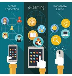 School Online E-Learning E-Book Backdrop vector