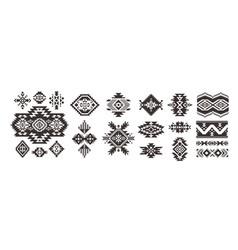 Set decorative ethnic elements isolated vector