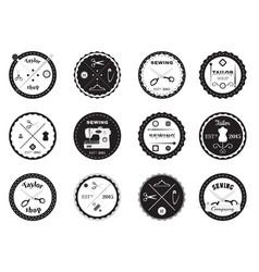 Set of tailor logos labels emblems and designed vector