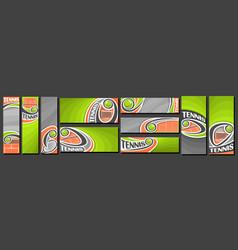 Set tennis banners vector