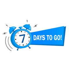 Seven days to go stock vector