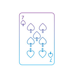 Seven of spades french playing cards related icon vector
