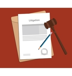 signing legal concept of litigation vector image