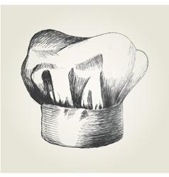 Sketch a chef hat vector