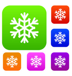 snowflake set collection vector image