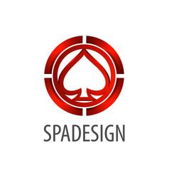 spade sign logo concept design 3d three vector image