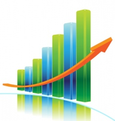 success graph vector image