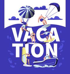 summer vacation sport adventure banner beach vector image