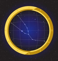 taurus star horoscope zodiac in fish eye vector image