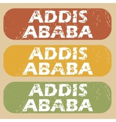Vintage Addis Ababa stamp set vector