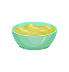 Wasabi in ceramic dip bowl vector