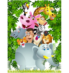 Wild animal cartoon vector