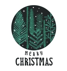 xmas card christmas greeting vector image