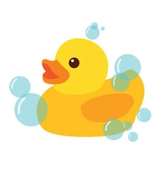 Yellow Rubber Duck Icon vector