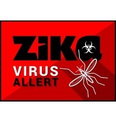 Zika virus allert outline vector