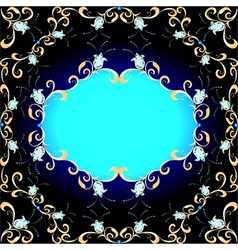 background and ornament of precious stones vector image vector image