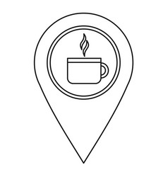 coffee or tea location icon outline style vector image