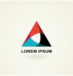 Conceptual triangle icon template logo vector image