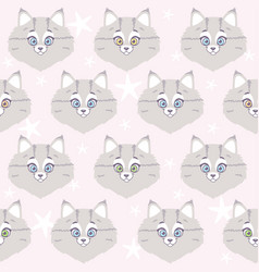 cute cat seamless vector image