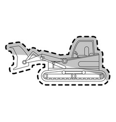 heavy construction machinery icon image vector image vector image