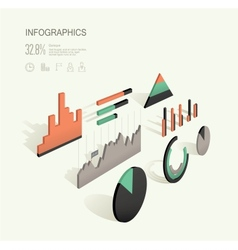 infographic 3d vector image