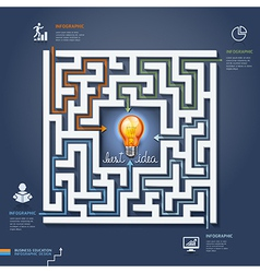Labyrinth business concept vector image vector image