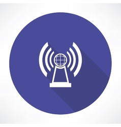 radio station icon vector image