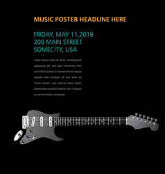 A ghost guitar hides on this music page vector